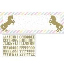 Unicorn Sparkle Large DIY Banner