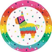 "Fiesta Fun 9"" Plate 8pk"