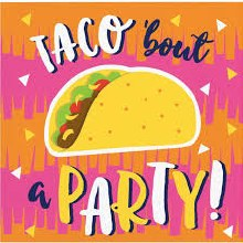 Taco Bout A Party Beverage Napkin 16ct