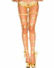 Leg Wrap Metallic Gold