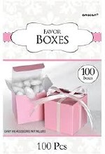 Favor Boxes Pink Pastel 100ct