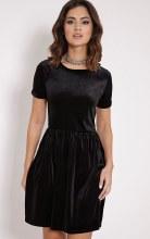 Skirt Blk Velvet STD