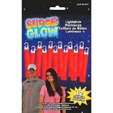 Glo Sticks & Lanyards 12pk Red
