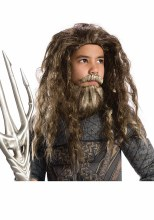 Aquaman Wig/Beard Set Child