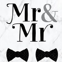 Mr. & Mr. Tux Beverage Napkins 16ct