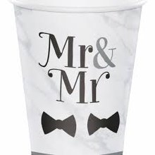 Mr. & Mr. Hot/Cold 12oz Paper Cups 8ct