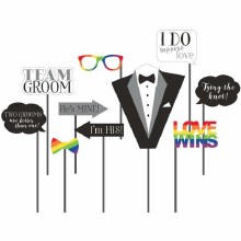 Mr. & Mr. Tux Wedding Photo Props