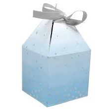 Blue/Silver Favor Box 8pk