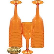 Wine Glasses Pl. Orange 20ct