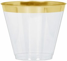 Tumblers Clear w/ Gold Trim