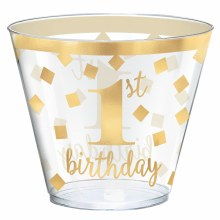 First Birthday Gold Tumblers