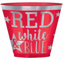 Red & Blue Pl 9oz Tumblers