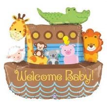 Noah's Ark Welcome Baby Mylar 37in