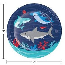 Shark 7in Plate 8ct