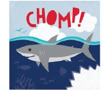 Shark Beverage Napkins 16ct