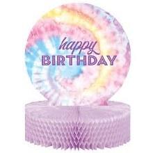 Tie Dye Happy Birthday Centerpiece