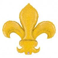 "Mylr OS 45"" FleurDeLis Gold"