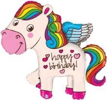 "Rainbow Happy Birthday Pegasas ~ 28"""