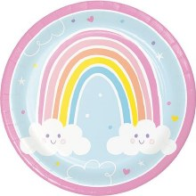 Happy Rainbow 9in Plate 8ct