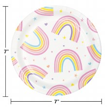 Happy Rainbow 7in Plate 8ct