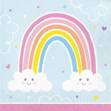 Happy Rainbow Lunch Napkins 16ct