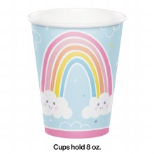 Happy Rainbow Paper Cups 8ct