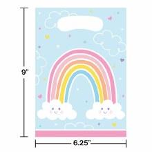 Happy Rainbow Loot Bags 8ct