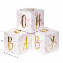Oh Baby Block Centerpiece Pink