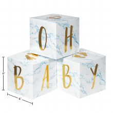 Oh Baby Block Centerpiece Blue