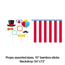Carnival Photo Booth Kit 9pc