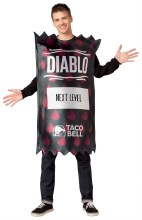 Taco Bell Diablo Packet Adult One Size