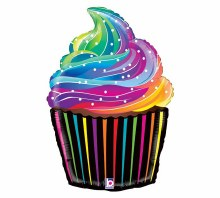 "Rainbow Cupcake ~ 27"""