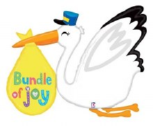 "Stork w/ Bundle Of Joy ~ 43"""