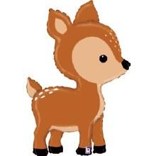 "Jumbo Deer Mylar ~ 39"""
