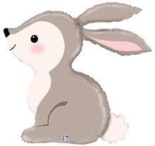 "Jumbo Bunny Mylar ~36"""