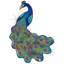 """Jumbo Peacock Glitter ~ 42"""""""