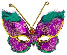 Mask Delux Butterfly Mardis Gras