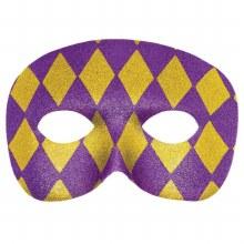 Mask Glitter Purple Gold Mardis Gras