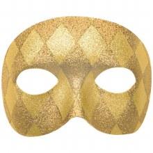 Mask Glitter Domino Gold