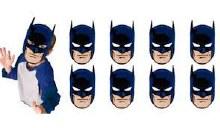 Batman Masks Paper 8ct