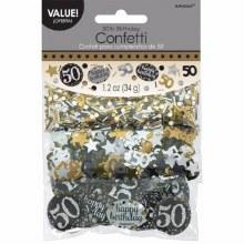 Sparkling 50 Confetti