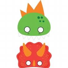 Dino-Mite Party Masks 8pk