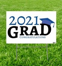 Grad Yard Sign 2021 Blue