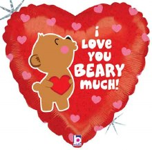 """Heart ~ Love You Beary Much Holographic ~ 18"""""""