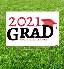 Grad Yard Sign 2021 Red