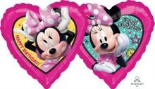 Minnie Happy Birthday Heart ~ 18in