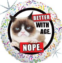 Grumpy Cat Better with Age ~ 18""