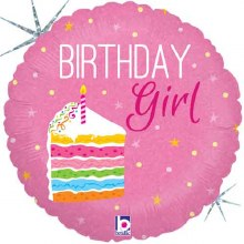 "18"" Birthday Girl Cake ~ Holographic"
