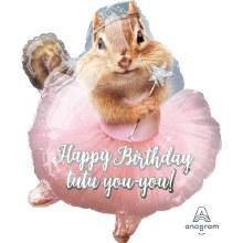 """19"""" Happy Birthday Tutu Chimpmunk"""