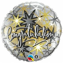 "Congratulations Gold & Silver ~ 18"""